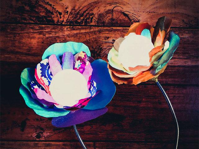 ワークショップ「花のランプ」